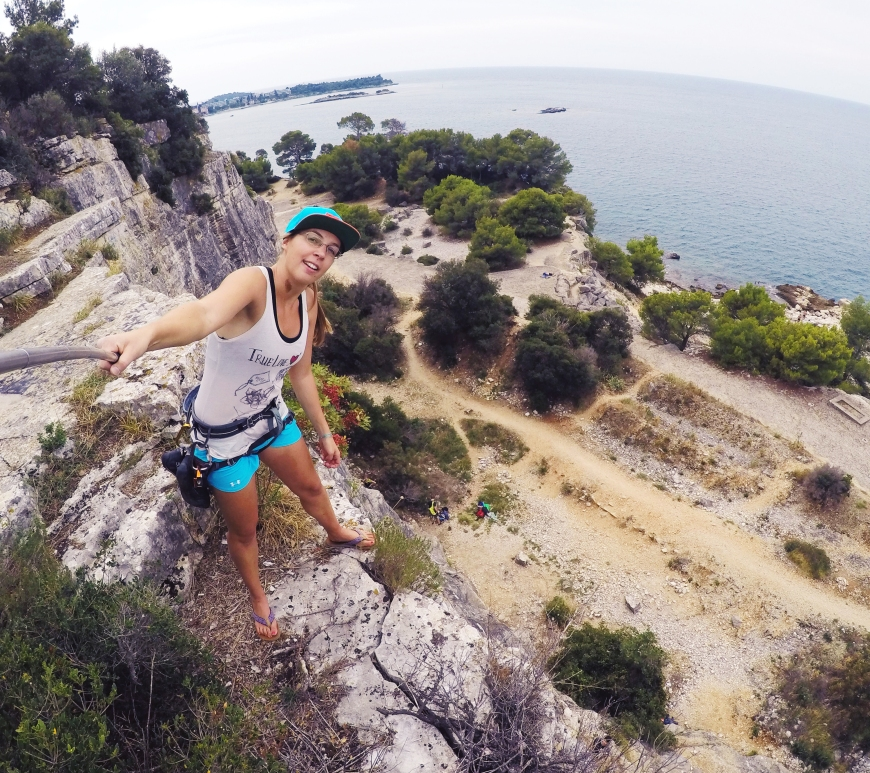 climbing in rovinj hrvaška plezanje